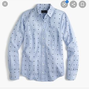 J Crew TALL embroidered perfect shirt